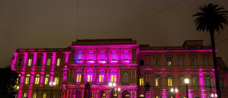 aires: pink house buenos aires Stock Photo