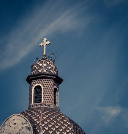 dome and cross Recoleta Cemetery