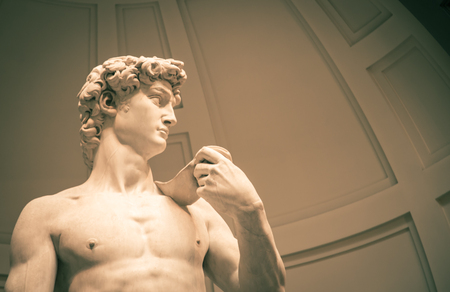 michelangelo: david statue florence Stock Photo