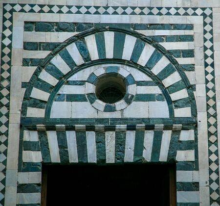 doorway: green and white doorway Florence