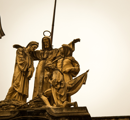 buenos aires: religious statue buenos aires