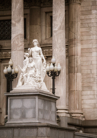 aires: congresso nacional buenos aires statue Stock Photo