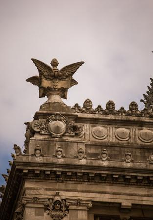 buenos aires: congresso nacional buenos aires statue Stock Photo