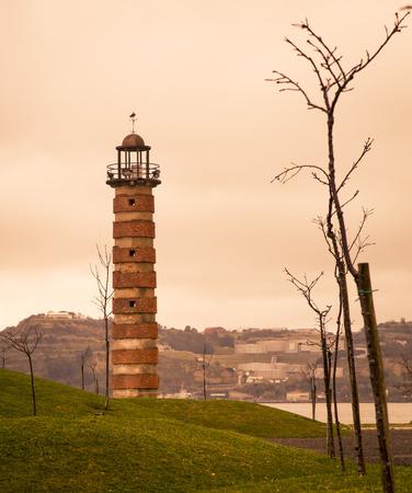 belem: lighthouse in belem Stock Photo