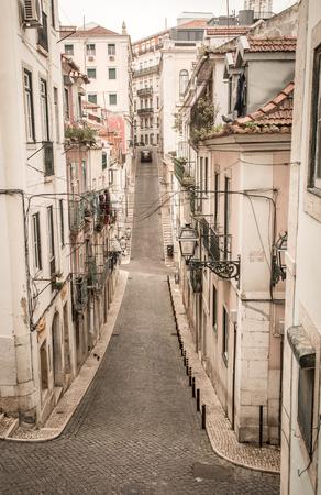bairro: street view in old lisbon