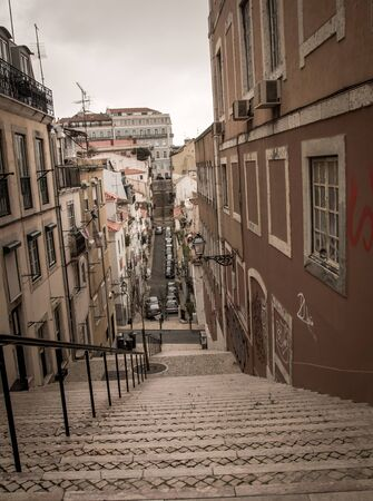 stairway lisbon portugal Stock fotó - 55373507