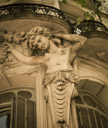 aires: female statue buenos aires Stock Photo