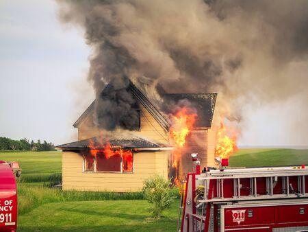 house on fire Foto de archivo
