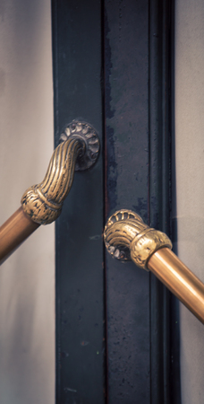 door handle: brass door handle
