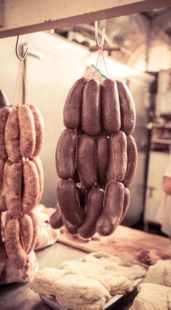 fresh sausages Stok Fotoğraf