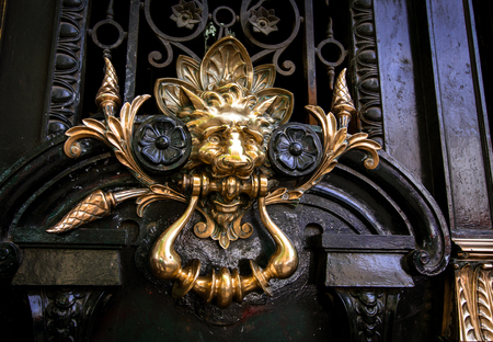 door handle: decorative lion door handle