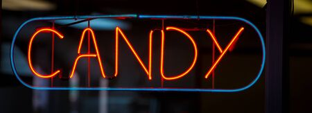 neon candy sign
