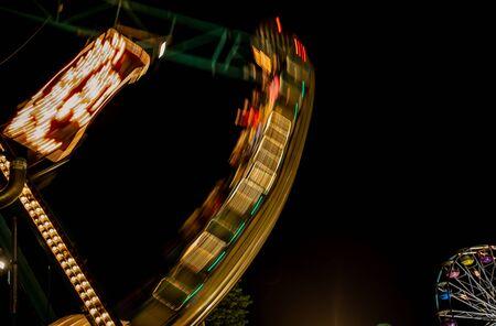 carnival ride: carnival ride at night