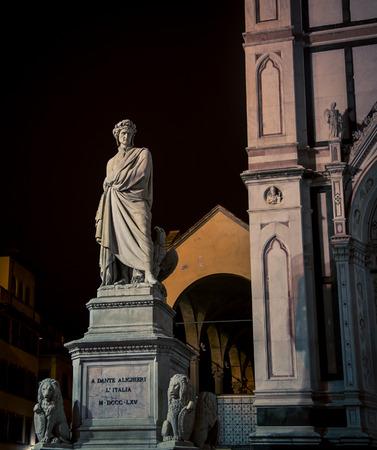 dante alighieri: statue florence italy Stock Photo