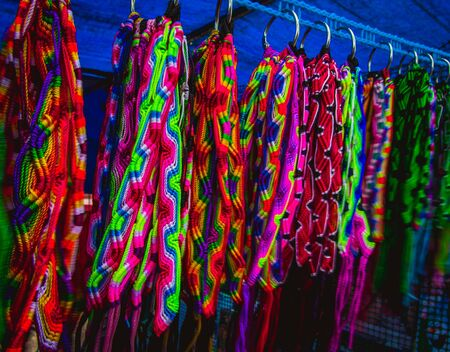 scarves: colorful scarves Archivio Fotografico