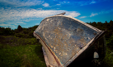 rotting: old wooden rotting boat