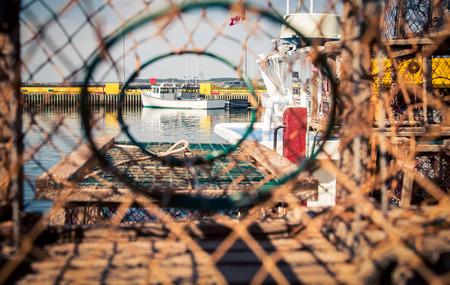 fishing boat thru a lobster trap