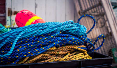 buoy: buoy and colorful rope