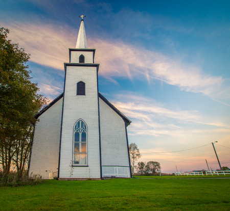 Rural church in Canada