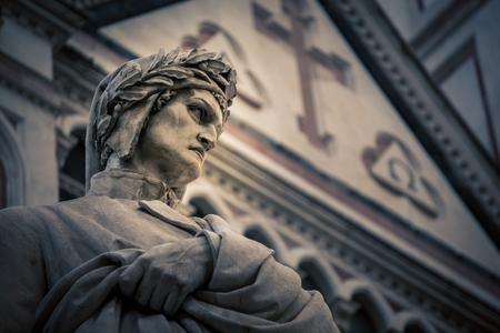 dante alighieri: poet statue florence italy Stock Photo