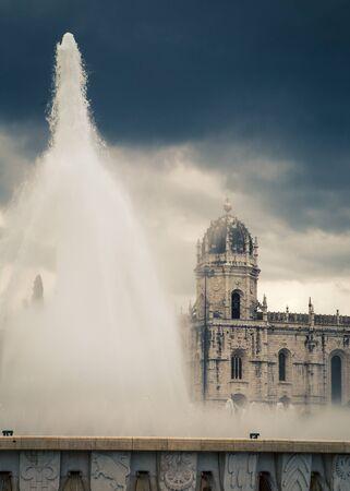 belem: water fountain belem portugal