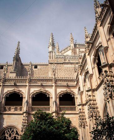 cloister: cloister in Toledo Spain