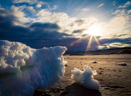 iceberg on a beach