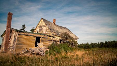 Abandon house in rural Prince Edward Island Stock Photo