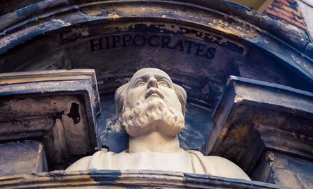 ヒポクラテス像アムステルダム 写真素材