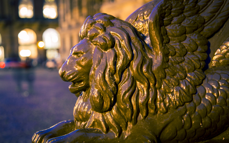 ancient lion: winged lion amsterdam