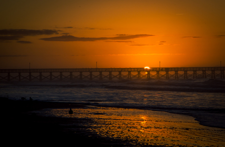 myrtle beach: sunrise pier myrtle beach Stock Photo