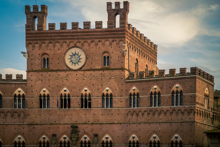 clock tower siena Stock Photo