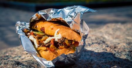 gyro sandwich to go Фото со стока
