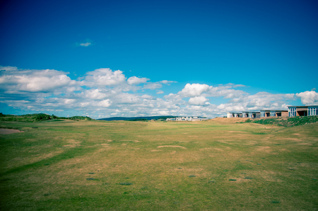 golf fairway in nova scotia Stock Photo