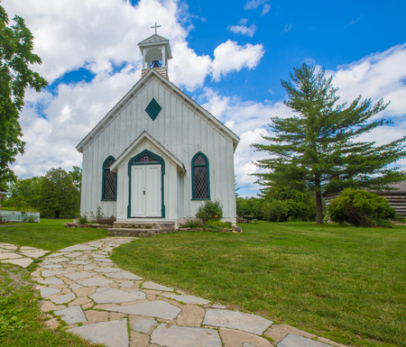 wooden white chapel