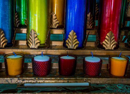 colourful candles catholic church
