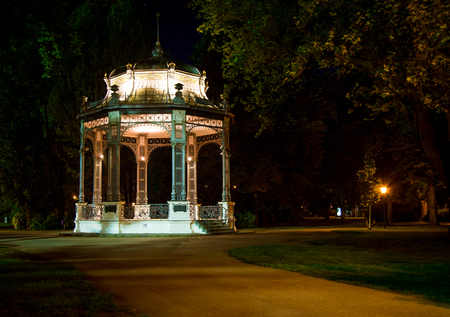 bandstand at night Stock Photo - 87325917