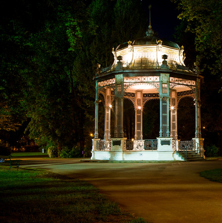 bandstand at night