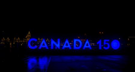 neon canada 150 sign