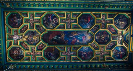 religious symbols ceiling of a church