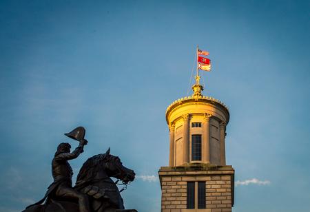 Andrew Jackson Statue Nashville Stock Photo