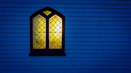 glow of a church window