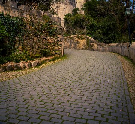 stone walkway in sintra portugal