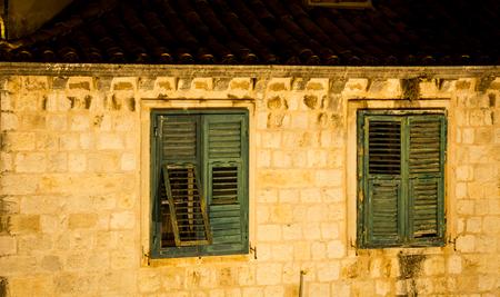 old wooden shutters Dubrovnik