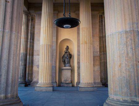Minerva statue, Brandenburg Gate Stock Photo