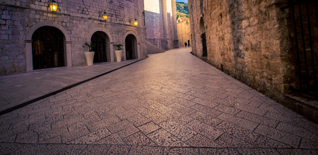 empty street in Dubrovnik