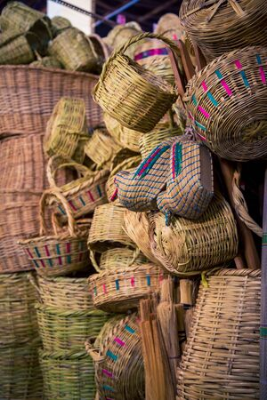 wicker baskets market Peru