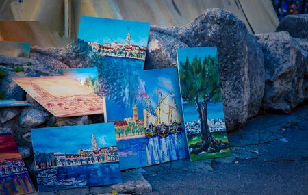 street art in Split Croatia Imagens