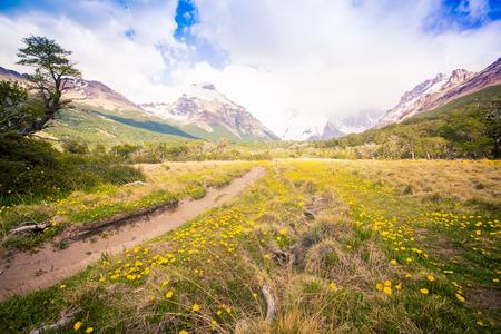 hiking trail El Chalten Argentina Stock Photo