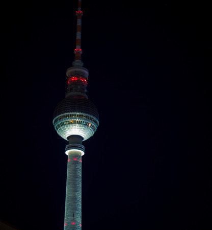 Tower at night in Berlin